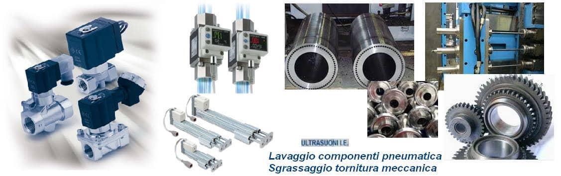 lavaggio ultrasuoni componenti pneumatica oleodinamica
